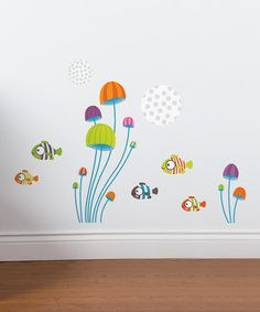 Take a look at the Mini Fish Wall Decal Set on #zulily today!