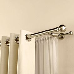 Heavy Duty réglable métal Couche Double Curtain Rod pôle Support Mural Support