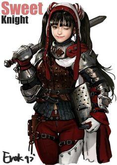Foxy Fantasy Girl — by Erak note Female Character Design, Character Design Inspiration, Character Concept, Character Art, Story Inspiration, Female Armor, Female Knight, Fantasy Girl, Fantasy Characters