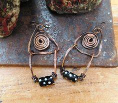 Des boucles d'oreille primitives tribales : Spirales de l'imaginaire .... : Boucles d'oreille par les-reves-de-minsy