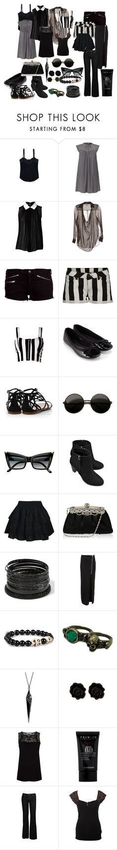 """""""Five days of summer goth"""" by izzysaid ❤ liked on Polyvore featuring Abercrombie & Fitch, Orla Kiely, Witchery, Haute Hippie, rag & bone, Accessorize, Tory Burch, Mint, Rare London and Pilgrim"""