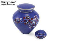 Blue Opulence Cremation Urn and Keepsake