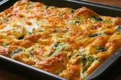 Kalyn's Kitchen: Favorite Recipe for Broccoli Cheese Breakfast Casserole