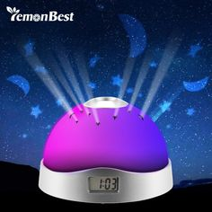 Home Decor Colorful Sky Star Children Baby Room Night Light Projector Lamp Alarm Clock sleeping Item Type: Night LightsCertification: CE,RoHSIs Batteries Requ Bedroom Night Light, Night Lamps, Night Lights, Star Night Light, Stars At Night, Sky Night, Night Light Projector, Projector Lamp, Gadget Watches