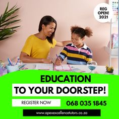 REGISTRATIONS OPEN 🤩 We're happy to announce that we now accepting registration for our Home Tutoring, Homeschool and Online Lessons for Grade R - 12. Early bird discounts available. Classes start on 04 February 2021 Register Today!! 068 035 1845 Online Lessons, Early Bird, Homeschool, February, Education, Happy, Ser Feliz, Onderwijs, Homeschooling