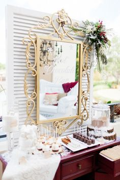 Chalk Shop Events styled shoot at Four Seasons Resort Orlando.  Chalk Shop Events, Orlando, Florida weddings. Custom chalkboard, mirror and celebration boards.
