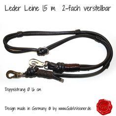 Leder Leine 2-fach verstellbar 1,5m