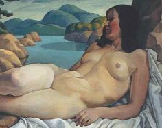 Edwin Holgate [Canadian Group of Seven Painter, Nude in Landscape, nd oil on canvas Tom Thomson, David Choe, Emily Carr, Guy Aroch, Walter Crane, Canadian Painters, Canadian Artists, Figure Painting, Painting & Drawing