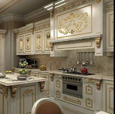 Discovered by Shehla Kamal. Find images and videos about home design on We Heart It - the app to get lost in what you love. Fancy Kitchens, Brown Kitchens, Elegant Kitchens, Luxury Kitchens, Beautiful Kitchens, Kitchen Cabinets Drawing, Classic Kitchen Cabinets, Home Decor Kitchen, Kitchen Interior