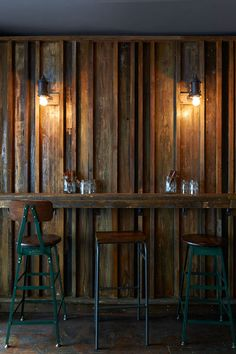 why:木質的吧台 和 復古的椅子 how:可用於室內的吧台
