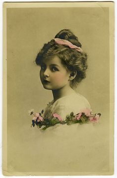 C 1911 Vintage Children Child Pretty Little Girl Vintage Antique Photo Postcard | eBay