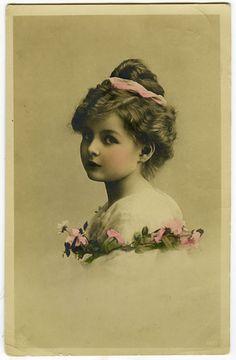 C 1911 Vintage Children Child Pretty Little Girl Vintage Antique Photo Postcard   eBay