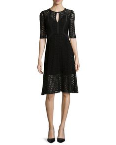 Drumbeat Crocheted Lace Dress by Nanette Lepore at Neiman Marcus.