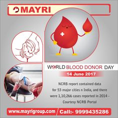 We at Mayri Group support the cause of #blooddonation. Bring a life back to power. #MayriGroup #WorldBloodDonorDay #DonateBlood #SaveLife