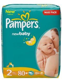 PAMPERS 80szt. NEW BABY Economy Pieluszki 2  • miękkie jak bawełna • zawierają podwójną warstwę chłonącą • gwarantują spokojny sen • zapewniają komfort i bezpieczeństwo