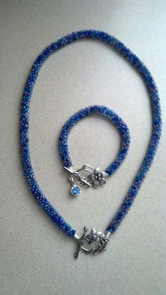 Kumihimo necklace and bracelet