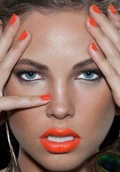 Added By Bri Wolz. #orange #lipstick via bawoods @Bloom.COM