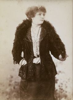 """Sarah Bernhardt was born Henriette Rosine Bernard on October 23, 1844 in Paris, of partial Jewish descent. Known as """"The Divine Sarah,"""" she became, arguably, the most famous actress of her time and was one of the first great stage actresses to appear in motion pictures. This portrait was taken William and Daniel Downey in the 19th century."""