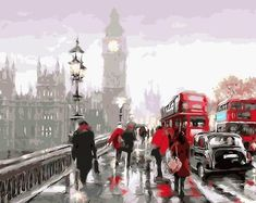 DIY-PAINT BY NUMBERS-CITY STREET #OilPaintingCity