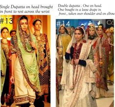 10 Best Ways to Style & Drape Dupattas for Indian & Pakistani Brides (1)