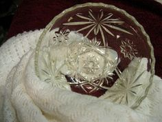 Vintage Star of David Clear Glass Scalloped Edge Berry Bowl -Excellent Condition | eBay