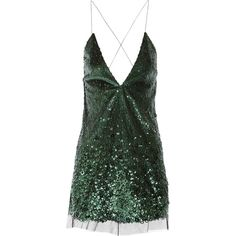 Marc Jacobs Sequined tulle mini dress (1.031.615 CRC) ❤ liked on Polyvore featuring dresses, short dresses, green, green cocktail dress, green sequin dress, black dress, green dress and short sequin cocktail dresses