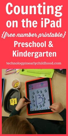 An iPad Counting Activity for Preschool and Kindergarten