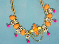 Quick Coral Statement Necklace | AllFreeJewelryMaking.com