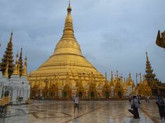 pagodas in yangon | The Shwedagon Pagoda in Yangon