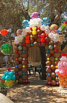 Balloon twisting entertainment and custom balloon … Cathy Olson – balloon artist. Balloon rotation entertainment and customized balloon decorations for parties and events. Located in Camarillo, California and serves Candy Theme Birthday Party, Candy Land Theme, Candy Party, Carnival Birthday, Birthday Parties, Balloon Decorations Party, Birthday Decorations, Christmas Decorations, Outdoor Decorations