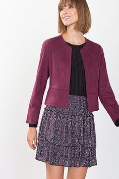 Esprit / Blazer en similidaim, stretch