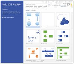 visio welcome screen