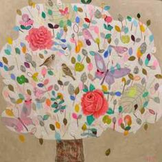 http://www.andrealetterie.nl Tree Illustration, Tree Of Life, Chocolate Factory, Art Journaling, Watercolour, Bonito, Trees, Art Diary, Pen And Wash