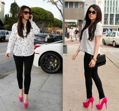 Ashes into Fashion: Kim Kardashian Inspired : Stars + Pink Pumps