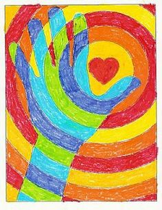 Cool Paintings for Kids . Best 20 Cool Paintings for Kids . Folding Fish Paper Art Project Art for Kids Easy Art Cool Art Projects, Projects For Kids, Craft Projects, Hand Kunst, Arte Elemental, Warm And Cool Colors, Warm Colours, 4th Grade Art, Grade 1