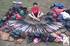 #Baseball equipment collection #Mitzvah project