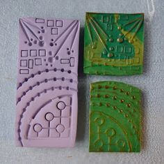 Knightwork: Playing with Clay: Thing A Day Day 1 Polymer Clay Texture Sheets
