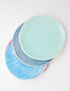 burlap app plates