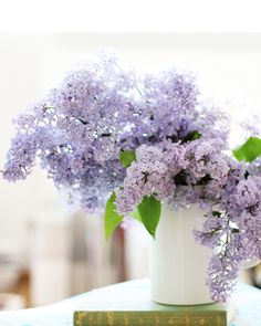 Lilacs-this so reminds me of home and my mom.  they have a lilac bush at their house and loved when she would bring them in the house, LOVE