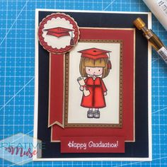 #graduation #graduationgifts #greetingcards #handmadecards #diycrafts #diyprojects #diycards #artsandcrafts Graduation Cards Handmade, Graduation Gifts, Trim Board, Dear Students, Gold Banner, Fish Tales, Tim Holtz, Card Sizes, Diy Cards