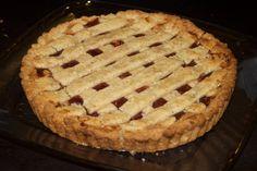 Peanut Butter and Jelly Pie on a hazelnut crust
