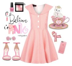 """""""I Believe In Pink"""" by modern-grease on Polyvore featuring  gingham dress by Voodoo Vixen sold at www.moderngrease.com"""
