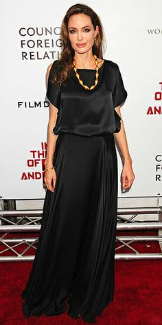 Angelina Jolie in Ralph Lauren Maxi skirt