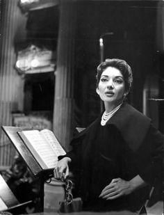 Maria Callas photographed by Erio Piccagliani, 1959.