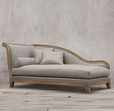 #traditional 19th C. French Empire Fainting Upholstered Chaise by Restoration Hardware $4000