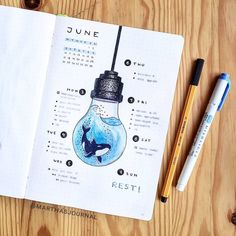 30 Under the Sea Themed Bullet Journal Layout Ideas - Bullet Journal School, Bullet Journal Aesthetic, Bullet Journal Notebook, Bullet Journal Spread, Bullet Journal Layout, Bullet Journal Inspiration, Journal Ideas, March Bullet Journal, Bullet Journel