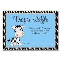 Shop Cute Pink Zebra Baby Shower Diaper Raffle Enclosure Card created by WhimsicalPrintStudio. Personalize it with photos & text or purchase as is! Tribal Baby Shower, Unique Baby Shower, Baby Boy Shower, Baby Shower Invitation Templates, Baby Shower Invitations For Boys, Invitation Ideas, Invitation Cards, Baby Shower Parties, Baby Shower Themes
