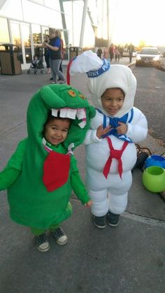Ghostbusters Halloween Costume. Slimer and Stay Puft Marshmallow Man  sc 1 st  Pinterest & Slimer Ghostbusters Costume | Halloween Kids Costumes | Pinterest ...