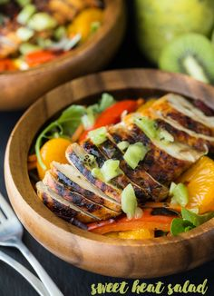 This Sweet Heat Salad is my version of the one made at Swiss Chalet. It's healthy, vibrant, fresh and delicious! It's the perfect summer entree.