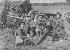 A British Field Gun Covered With Wheat To Conceal It From The Enemy